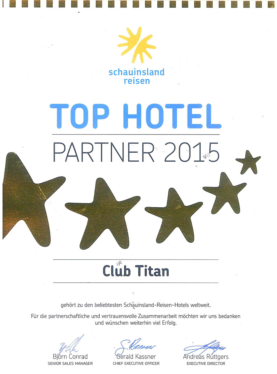 TOP HOTEL 2015